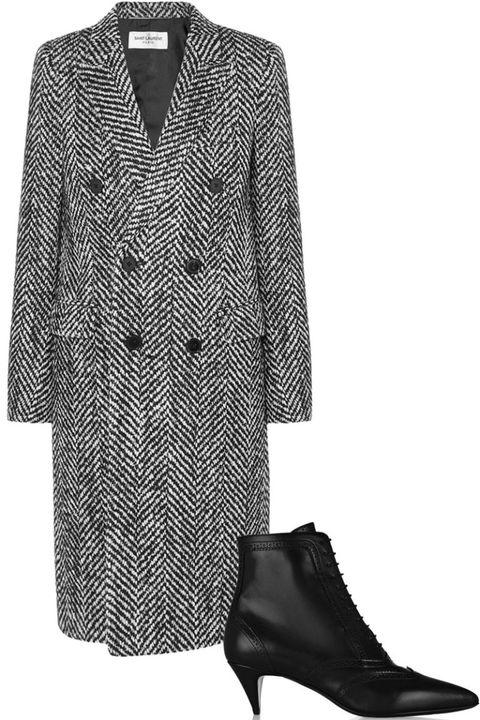 Sleeve, Collar, Textile, Pattern, Style, Fashion, Black, Clothes hanger, Fashion design, Leather,
