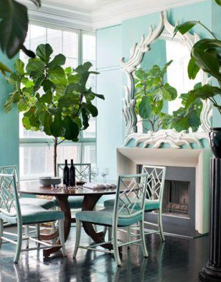 Room, Wood, Property, Interior design, Floor, Table, Furniture, Flooring, Teal, Chair,