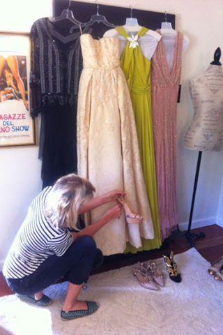 Clothing, Textile, Dress, Floor, Flooring, Fashion, Black, Pattern, One-piece garment, Foot,