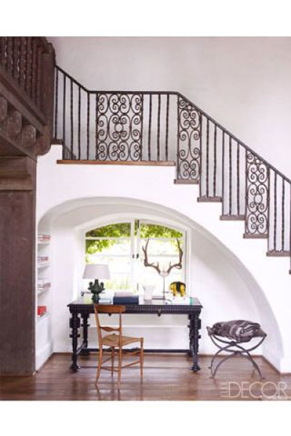 Stairs, Interior design, Room, Property, Table, White, Furniture, Home, Iron, House,