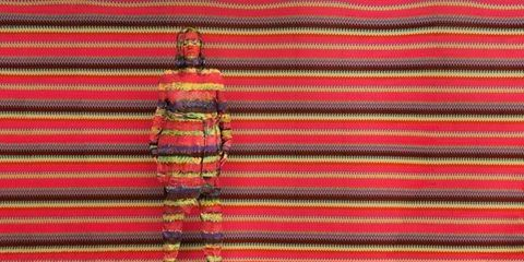 Red, Textile, Pattern, Magenta, Orange, Maroon, Woolen, Creative arts, Knitting, Wool,