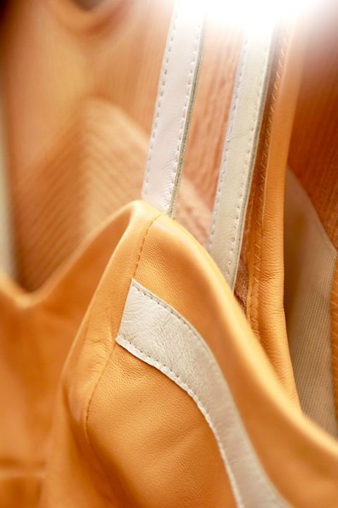 Amber, Orange, Tan, Beige, Peach, Close-up, Stitch,