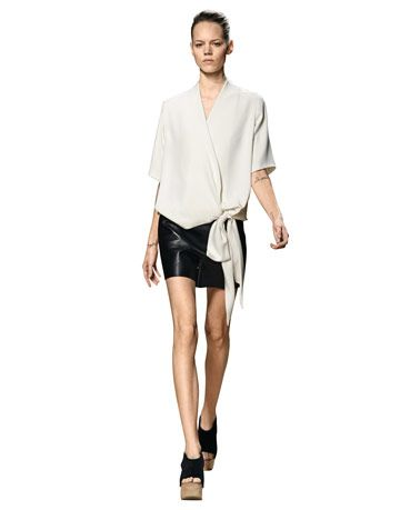 celine leather shorts
