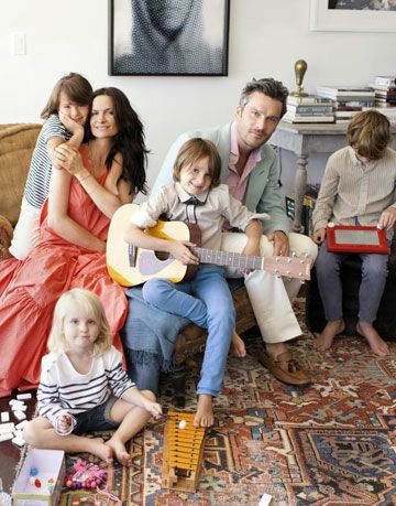 rosetta and balthazar getty with their children