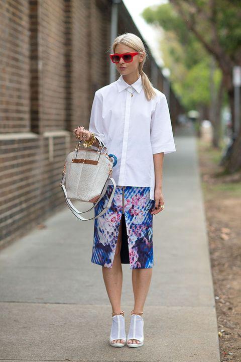 Shirt, Textile, Sunglasses, Style, Collar, Street fashion, Bag, Fashion, Basket, Wicker,