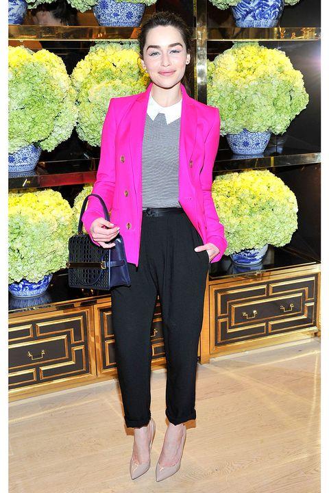 Collar, Outerwear, Style, Coat, Purple, Magenta, Blazer, Fashion, Lavender, Suit trousers,