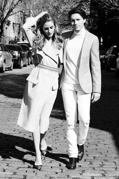 Trousers, Photograph, Outerwear, White, Coat, Monochrome, Monochrome photography, Style, Black-and-white, Street fashion,