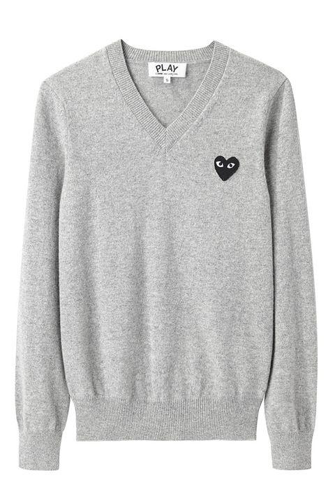 Product, Collar, Sleeve, Textile, White, Sweater, Pattern, Fashion, Grey, Sweatshirt,