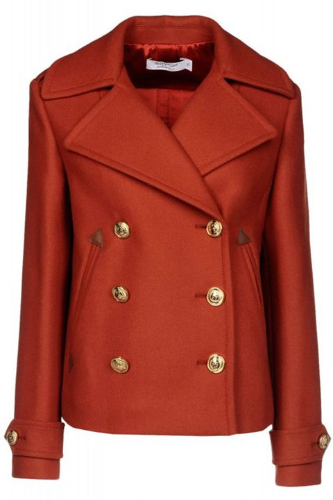 Clothing, Coat, Product, Brown, Collar, Sleeve, Textile, Red, Outerwear, Orange,