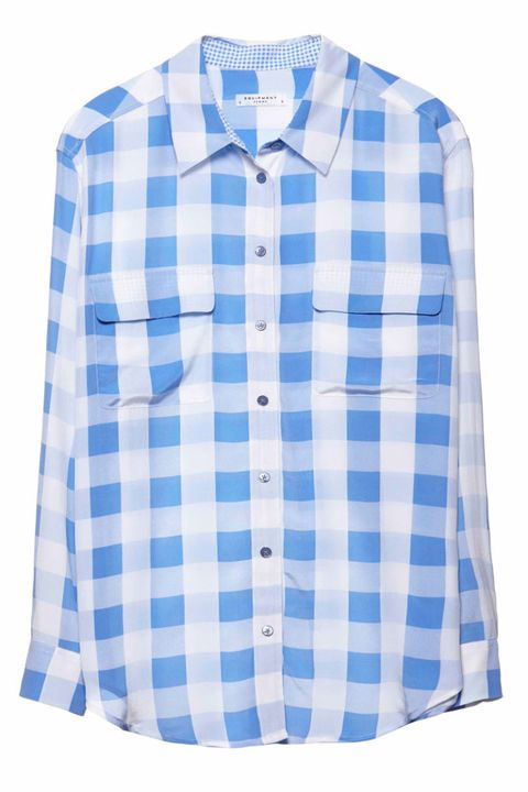 Clothing, Blue, Product, Collar, Sleeve, Dress shirt, Pattern, Textile, White, Electric blue,
