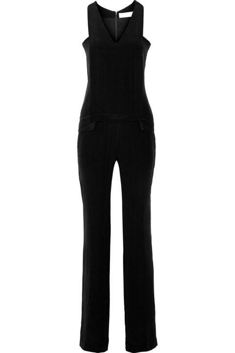 Sleeve, Standing, Collar, Black, Waist, Mannequin, One-piece garment, Fashion design, Pocket, Pattern,