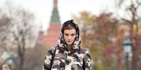 Clothing, Sleeve, Winter, Textile, Outerwear, Style, Street fashion, Pattern, Bag, Street,