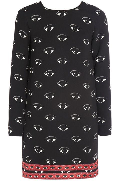 Sleeve, Pattern, White, Collar, Style, Fashion, Neck, Black, Street fashion, Design,
