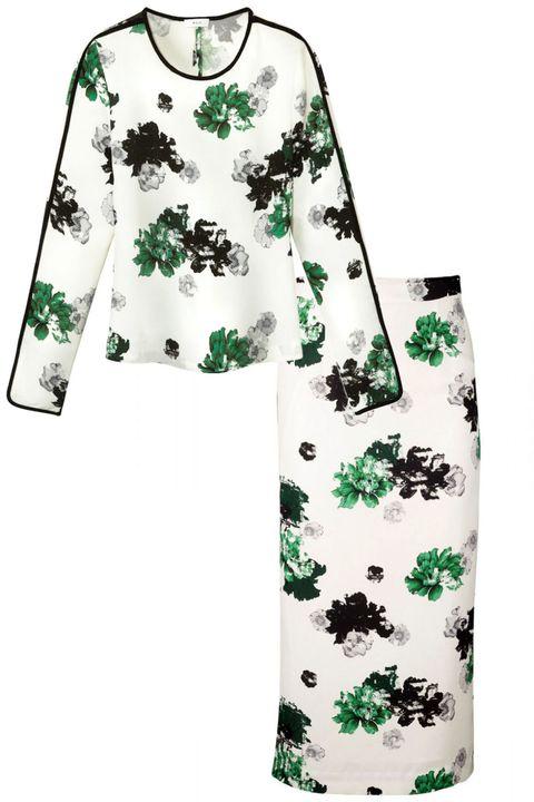 Green, Sleeve, Pattern, White, Turquoise, Teal, Aqua, Fashion, Design, Visual arts,