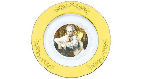 Yellow, Dishware, Circle,
