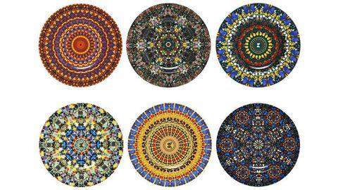 Blue, Colorfulness, Pattern, Circle, Art, Visual arts, Majorelle blue, Motif,