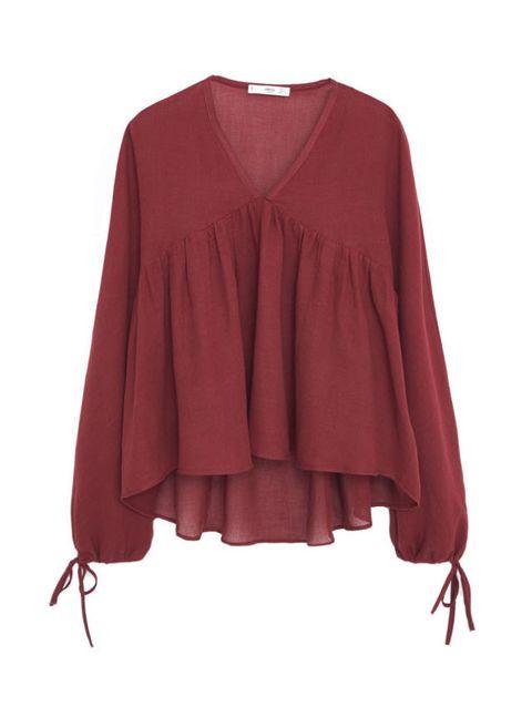 Product, Sleeve, Red, Textile, Collar, Magenta, Maroon, Carmine, Fashion, Orange,