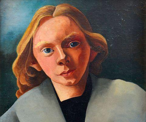 Lip, Cheek, Art, Artwork, Watercolor paint, Self-portrait, Paint, Portrait, Painting, Art paint,