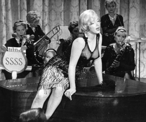 <p>Met Tony Curtis, Jack Lemmon en Marilyn Monroe in de hoofdrol.</p>
