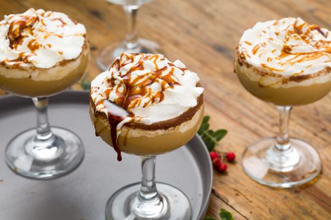 """<p>Everyone's favorite holiday drink gets boozy and a little spicy.</p><p>Get the recipe from <a href=""""http://www.delish.com/holiday-recipes/christmas/recipes/a45175/gingerbread-eggnog-white-russian-recipe/"""">Delish</a>.<br></p><section></section>"""