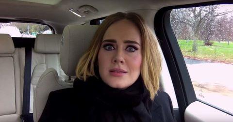 Hairstyle, Eyebrow, Vehicle door, Jaw, Head restraint, Car seat, Beauty, Selfie, Blond, Long hair,
