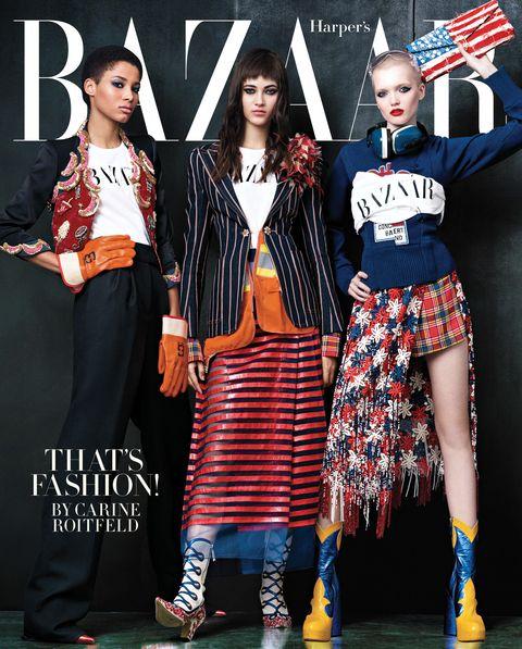 Clothing, Red, Outerwear, Pattern, Flag, Style, Street fashion, Fashion, Fashion model, Bag,
