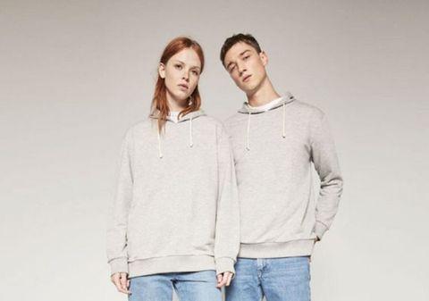 Sleeve, Denim, Trousers, Collar, Shoulder, Jeans, Textile, Standing, Joint, Pocket,