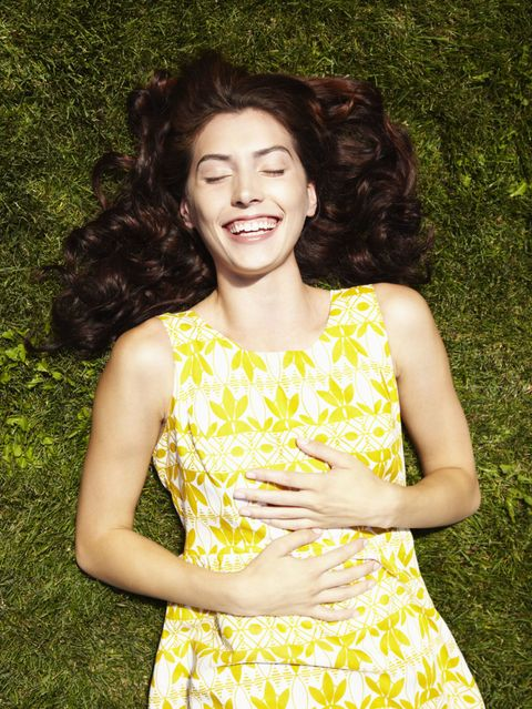 Hairstyle, Yellow, Dress, Happy, People in nature, Style, Summer, Beauty, One-piece garment, Day dress,