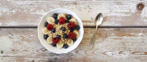 Dish, Food, Cuisine, Breakfast cereal, Breakfast, Meal, Ingredient, Granola, Vegetarian food, Snack,