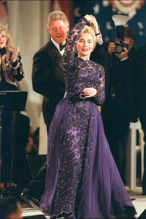 <p>At the Arkansas Inaugural Ball following President Bill Clinton's inauguration</p>