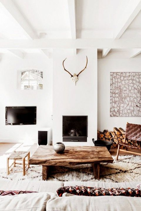 Wood, Room, Interior design, Wall, Floor, Furniture, Ceiling, Table, Living room, Home,