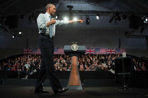 <p>Tijdens het evenement besprak president Obama zaken als discriminatie, klimaatverandering en hoe je een goede leider kunt zijn.</p>