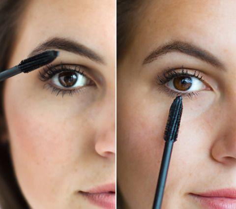 <p>Je wimpers ogen plots een stuk langer en voller wanneer je met je mascaraborstel zizaggend over je wimpers heen veegt. Houd vervolgens de borstel verticaal zodat je gemakkelijk en precies je onderwimpers van een lik mascara kunt voorzien.</p>