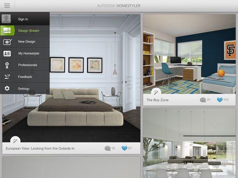 """<p>Het is simpel: je uploadt een foto van een kamer en Homestyler Interior Design laat zien hoe potentiële meubelstukkandidaten zouden staan in je huis, nog voordat je ze daadwerkelijk gekocht hebt. Heb je mooi nooit meer last van miskopen.</p><p class=""""MsoNormal""""><o:p></o:p></p><p><em><em>Gratis voor <a href=""""https://itunes.apple.com/us/app/homestyler-interior-design/id601137449?mt=8"""">iOS</a> en </em><a href=""""https://play.google.com/store/apps/details?id=com.autodesk.homestyler&hl=en""""><em>Android</em></a><a href=""""https://play.google.com/store/apps/details?id=com.autodesk.homestyler&hl=en""""></a></em></p>"""