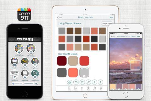 """<p>Color911 heeft honderden kleurpaletten, gekozen door consultant Amy Wax, maar de app bied je ook de mogelijkheid om zelf kleurcombinaties te maken. Twijfel je welke kleur nu echt goed combineert met je nieuwe grijze bank? Upload gewoon even een foto van het desbetreffende item en de app zoekt voor jou kleuren die er goed mee matchen.</p><p class=""""MsoNormal""""><o:p></o:p></p><p><em><em>$4.99 voor </em><em><a href=""""https://itunes.apple.com/app/color911/id586925023?mt=8&ign-mpt=uo%3D2"""">iOS</a></em><a href=""""https://itunes.apple.com/app/color911/id586925023?mt=8&ign-mpt=uo%3D2""""></a></em></p>"""