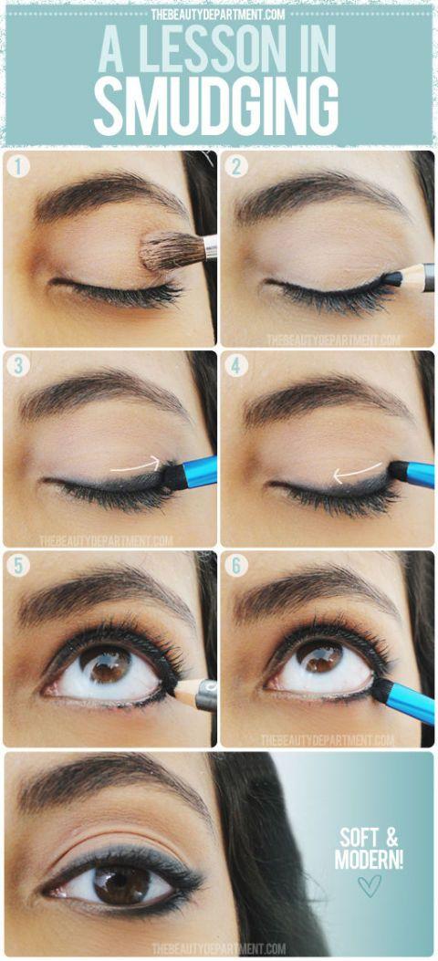 <p>Maak je look net wat sensueler door je eyeliner lichtjes uit te vegen.</p>