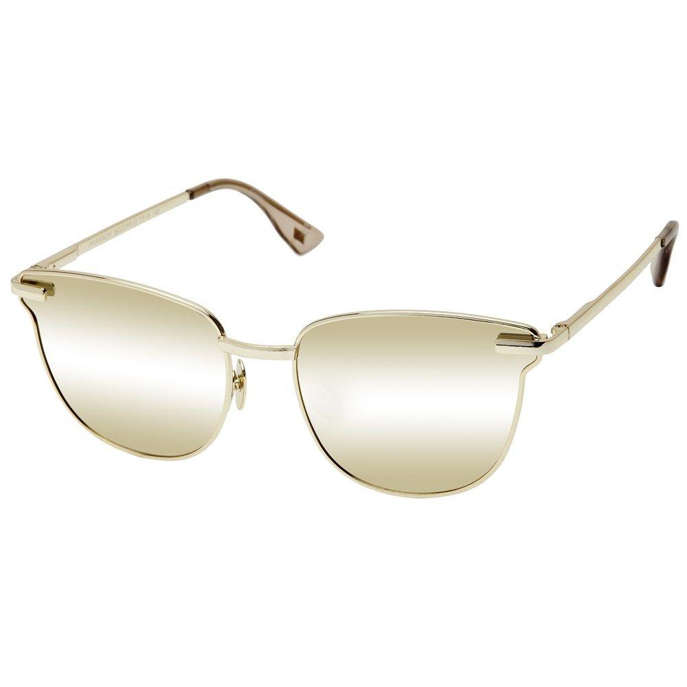 "<p>Le Specs Luxe, <a href=""https://lespecs.com/pharaoh-1602099-gold-gold-mirror-lsl1602099"" target=""_blank"">lespecs.com</a><span></span></p>"