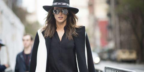Clothing, Hat, Sleeve, Collar, Outerwear, Style, Street fashion, Costume accessory, Fashion model, Blazer,