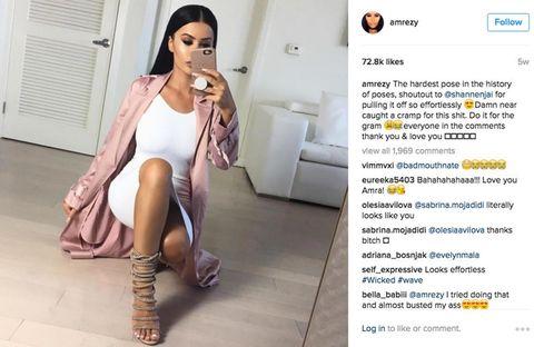<p>Zelfs de outfit schreeuwt Kim Kardashian.</p>