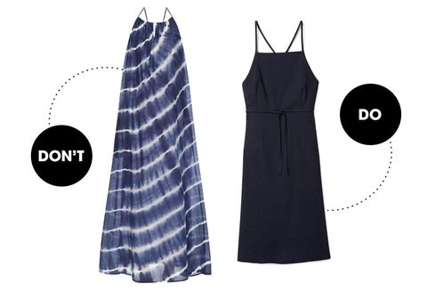 <p>A maxi dress is pure resort wear therefore, it has no place in an office since an office and a resort are basically mortal enemies. And yes, of course a big breezy dress will keep you cool but then everyone will be wondering if you think you are in Turks and Caicos. If your office is actually in Turks and Caicos though, you can totally wear a maxi dress there. If your office is not, then you should wear something with more structure like a cotton pencil dress. This option in particular has an open back which can be covered up by a light sweater once the A/C chill hits you.</p>