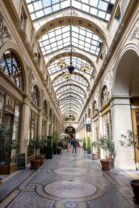 "<p>Peruse the skylit arcades—<a href=""http://www.galerie-vivienne.com/"" target=""_blank"">Galerie Vivienne</a>, <a href=""http://en.parisinfo.com/paris-museum-monument/100264/Passage-des-Panoramas"" target=""_blank"">Passage des Panoramas</a>, <a href=""http://en.parisinfo.com/paris-museum-monument/100259/Galerie-Vero-Dodat"" target=""_blank"">Galerie Véro-Dodat</a>, and <a href=""http://en.parisinfo.com/paris-museum-monument/100269/Galerie-Colbert"" target=""_blank"">Passage Colbert</a> are all great options. They're the city's original shopping malls and full of tiny boutiques, bookstores, antique shops, cafés, and more uniquely Parisian spots. </p>"