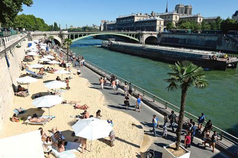 "<p>Every summer, several spots around the city are transformed into <a href=""http://en.visitparisregion.com/events-paris/festivals/paris-plages-2016-333852.html"" target=""_blank"">pop-up beaches</a>, each with its own unique theme. From sandy shores on the right bank in the center of the city to water sports at the Bassin de la Villette, these urban beaches bring a taste of the Riviera to Paris.  </p>"