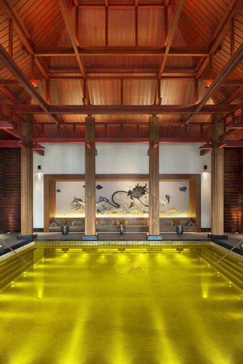 The pool at St. Regis Lhasa in Tibet