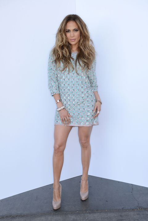 <p>Angelina Jolie may have had her famous leg moment—but it's J. Lo who works the pose *all* the time. The singer knows she has legs for days and accentuates them by putting all her weight on one leg, then sticking out the other leg in pointed fashion to elongate and define.</p>