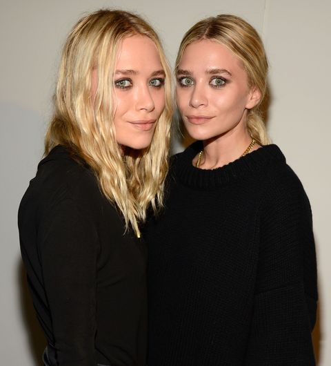 """NEW YORK, NY - SEPTEMBER 12:  (L-R) Mary-Kate Olsen and Ashley Olsen attend the Estee Lauder """"Modern Muse"""" Fragrance Launch Party at the Guggenheim Museum on September 12, 2013 in New York City.  (Photo by Kevin Mazur/Getty Images for Estee Lauder)"""