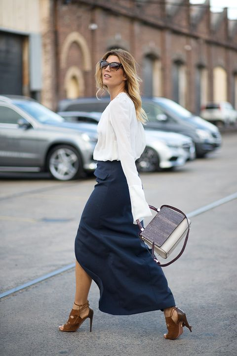 <strong>The Takeaway: </strong>Never underestimate the power of a classic white button-down—it works for every season.