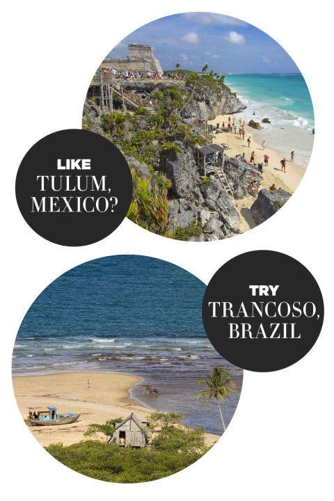 """<p>Dit jaar zijn alle ogen gericht op Brazilië, want hallo <a href=""""http://www.harpersbazaar.nl/cultuur-reizen/news/a3219/vrouwen-olympische-spelen/"""">Olympische Spelen</a> in Rio de Janeiro! Voor reizigers die eens een andere afslag willen nemen: Trancoso is een prachtig Boheems paradijs.</p><p><br></p><p><strong>Wapenfeit: </strong>Een afgelegen strand dat het met z'n verpletterende palmbomen goed doet op social media. Net als Tulum is Trancoso een geliefde bestemming voor de modewereld.</p><p><br></p><p><strong>Verblijf in:</strong> UXUA Casa Hotel & Spa</p><p><br></p><p>&gt; <a target=""""_self"""">'Waarom ik mijn topbaan opgaf en naar een eiland verhuisde'</a></p>"""