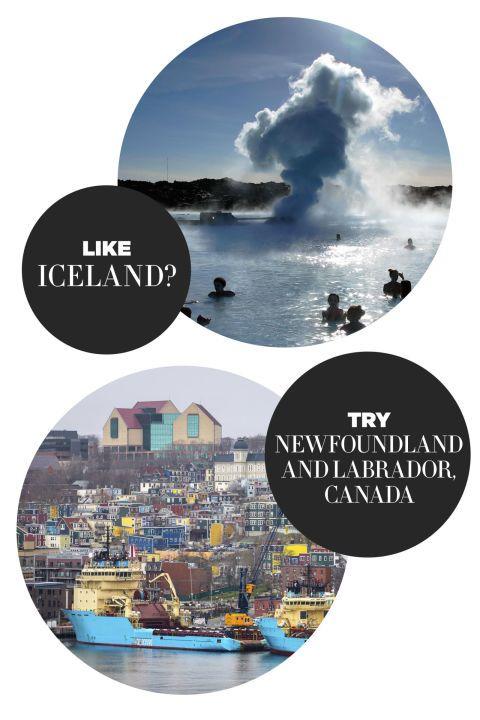 """<p>Deze Canadese regio is een topbestemming voor de avonturier. Denk: wildernis, trekvogels en walvissen spotten en honderden ijsbergen om langs te varen.</p><p><br></p><p><strong>Wapenfeit:</strong> de boottocht door Iceburg Alley – ideale combi van natuur en stad.</p><p><br></p><p>&gt; <a target=""""_self"""">Liever naar Bali? Dit zijn de tofste adressen!</a></p>"""