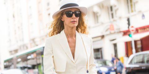 Clothing, Eyewear, Glasses, Vision care, Sunglasses, Sleeve, Hat, Coat, Outerwear, Street,