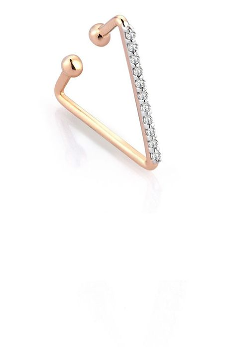 "<p><strong>Kismet by Milka </strong>ear cuff, €363,60, <a href=""http://store.kismetbymilka.com/earring-earcuff/triangle-cuff-white-diamond-single.html"" target=""_blank"">kismetbymilka.com</a>. </p>"